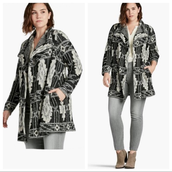 Lucky Brand Sweaters - LUCKY BRAND PLUS size waterfall SWEATER cardigan